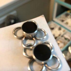 Jewelry - Sterling silver/onyx(unknown black stone) earrings